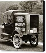 Du Pont Co. Explosives Truck Pennsylvania Coal Fields 1916 Canvas Print by Arthur Miller
