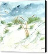 Dunes 3 Seascape Beach Painting Print Canvas Print by Derek Mccrea