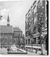 Duquesne University Chapel And Canevin Hall Canvas Print by University Icons