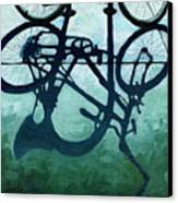 Dusk Shadows - Bicycle Art Canvas Print by Linda Apple