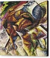 Dynamism Of A Cyclist Canvas Print by Umberto Boccioni