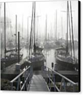Early Morning On The Docks Canvas Print by Laurie With