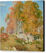 Early October Canvas Print by Willard Leroy Metcalf
