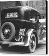 Early Police Car Canvas Print by Topical Press Agency