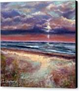 Early September Beach Canvas Print by Peter R Davidson