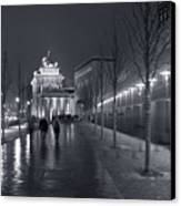 Ebertstrasse And The Brandenburg Gate Canvas Print by Pierre Logwin