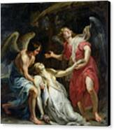 Ecstasy Of Mary Magdalene Canvas Print by Peter Paul Rubens