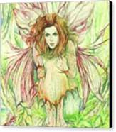 Edana The Fairy Collection Canvas Print by Morgan Fitzsimons