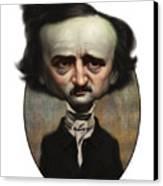 Edgar Allan Poe Canvas Print by Court Jones