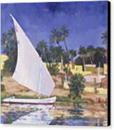 Egypt Blue Canvas Print by Clive Metcalfe