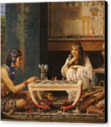 Egyptian Chess Players Canvas Print by Sir Lawrence Alma-Tadema