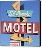 El Rancho Motel Stockton Ca Canvas Print by Troy Montemayor