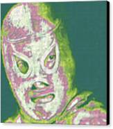 El Santo The Masked Wrestler 20130218v2m80 Canvas Print by Wingsdomain Art and Photography