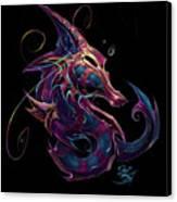 Electric Seahorse Canvas Print by David Bollt