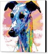 Electric Whippet Canvas Print by Kathleen Sepulveda