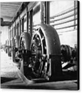 Electrical Generators In Edison Sault Canvas Print by Everett