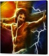 Electrifying Jesus Crucifixion Canvas Print by Pamela Johnson