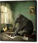 Elephant Chess Canvas Print by Ethiriel  Photography