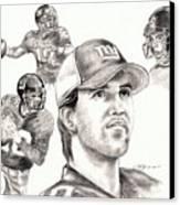 Eli Manning Canvas Print by Kathleen Kelly Thompson
