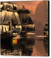 Eliminating The Pirates Canvas Print by Claude McCoy