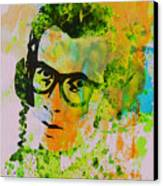 Elvis Costello Canvas Print by Naxart Studio