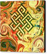 Endless Knot Two Canvas Print by Kevin J Cooper Artwork