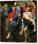 Entry Of Christ Into Jerusalem Canvas Print by Sir Anthony van Dyke