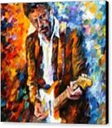 Eric Clapton Canvas Print by Leonid Afremov