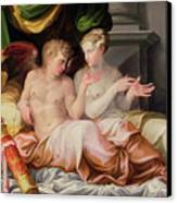 Eros And Psyche Canvas Print by Niccolo dell Abate