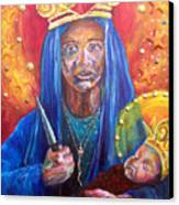 Erzulie Dantor Portrait Canvas Print by Christy  Freeman
