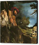 Et In Arcadia Ego Canvas Print by Giovanni Francesco Barbieri