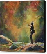 Evening Cast Canvas Print by Therese Fowler-Bailey