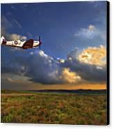 Evening Spitfire Canvas Print by Meirion Matthias