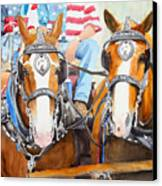Everybody Loves A Parade Canvas Print by Ally Benbrook