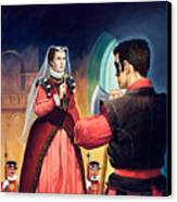 Execution Of Mary Queen Of Scots Canvas Print by English School