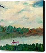Exploring Our Lake Canvas Print by Naomi Gerrard