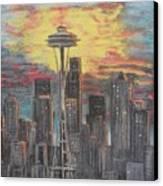 Eye On The Needle Canvas Print by Dan Bozich