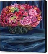 Fabric And Flowers Canvas Print by Sharon E Allen
