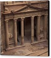 Facade Of The Treasury In Petra, Jordan Canvas Print by Richard Nowitz