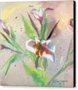 Faded Lilies Canvas Print by Arline Wagner