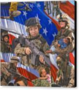 Fair Faces Of Courage Canvas Print by Karen Wilson