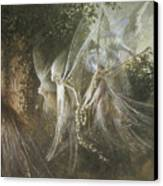 Fairies Looking Through A Gothic Arch Canvas Print by John Anster Fitzgerald