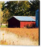 Fall Bin Canvas Print by Jame Hayes