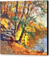 Fall In Bear Mountain Canvas Print by Ylli Haruni
