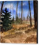 Fall Meadow Canvas Print by Sean Seal