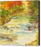 Fall On East Fork River Canvas Print by Kris Dixon