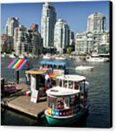 False Creek In Vancouver Canvas Print by Tom Buchanan
