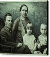 Family Portrait Canvas Print by James W Johnson
