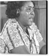 Fannie Lou Hamer 1917-1977 Canvas Print by Everett