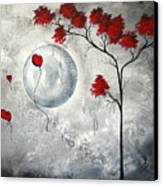 Far Side Of The Moon By Madart Canvas Print by Megan Duncanson